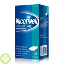 NICOTINELL COOL MINT 2MG, 96 CHICLES MEDICAMENTOSO